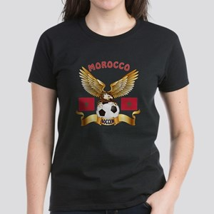 Morocco Football Design Women's Dark T-Shirt