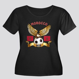 Morocco Football Design Women's Plus Size Scoop Ne