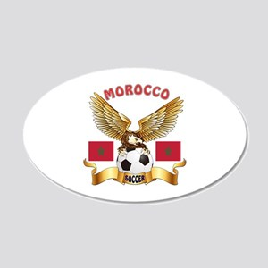 Morocco Football Design 20x12 Oval Wall Decal