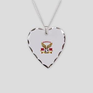 Morocco Football Design Necklace Heart Charm
