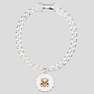 Morocco Football Design Charm Bracelet, One Charm