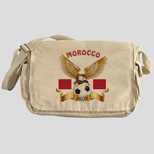 Morocco Football Design Messenger Bag