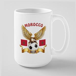 Morocco Football Design Large Mug