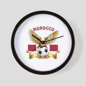 Morocco Football Design Wall Clock