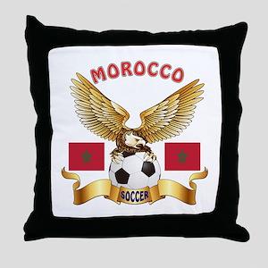 Morocco Football Design Throw Pillow
