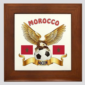 Morocco Football Design Framed Tile