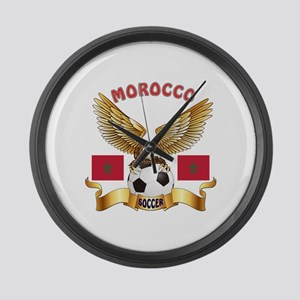 Morocco Football Design Large Wall Clock