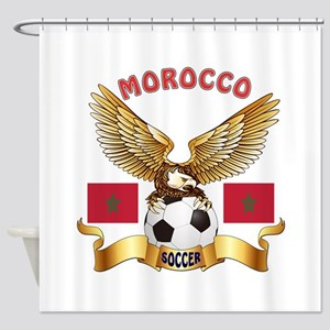 Morocco Football Design Shower Curtain