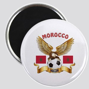 Morocco Football Design Magnet