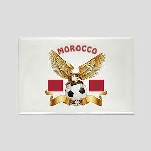 Morocco Football Design Rectangle Magnet