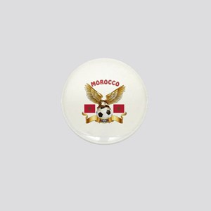 Morocco Football Design Mini Button