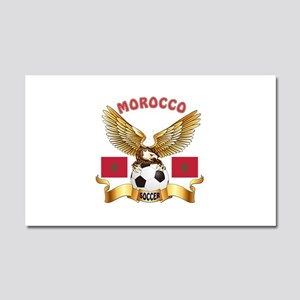 Morocco Football Design Car Magnet 20 x 12