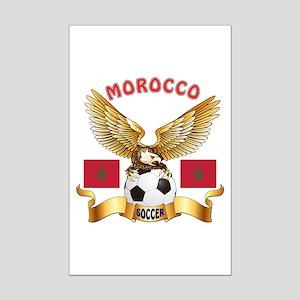 Morocco Football Design Mini Poster Print