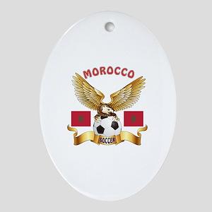 Morocco Football Design Ornament (Oval)