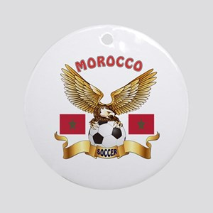Morocco Football Design Ornament (Round)