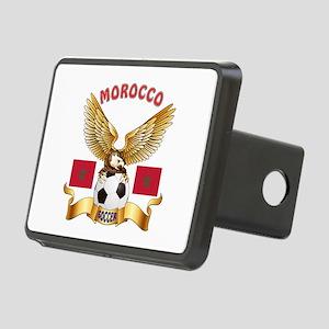 Morocco Football Design Rectangular Hitch Cover
