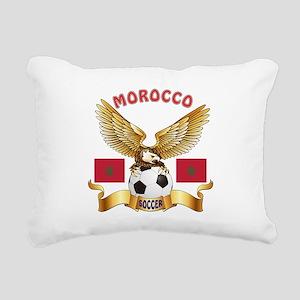 Morocco Football Design Rectangular Canvas Pillow
