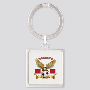 Morocco Football Design Square Keychain