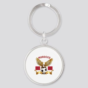 Morocco Football Design Round Keychain