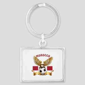 Morocco Football Design Landscape Keychain