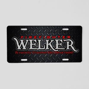 Welker Aluminum License Plate