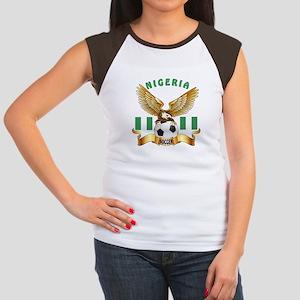 Nigeria Football Design Women's Cap Sleeve T-Shirt