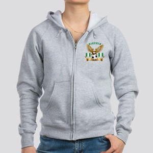Nigeria Football Design Women's Zip Hoodie