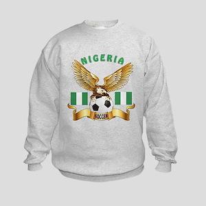 Nigeria Football Design Kids Sweatshirt