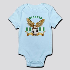 Nigeria Football Design Infant Bodysuit