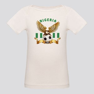 Nigeria Football Design Organic Baby T-Shirt