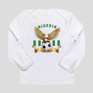 Nigeria Football Design Long Sleeve Infant T-Shirt