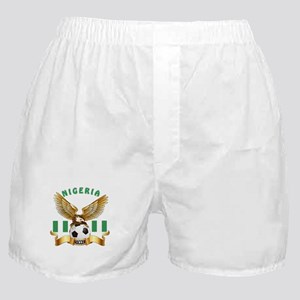 Nigeria Football Design Boxer Shorts