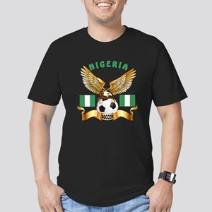 Nigeria Football Design Men's Fitted T-Shirt (dark