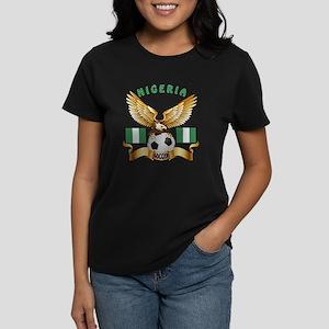 Nigeria Football Design Women's Dark T-Shirt