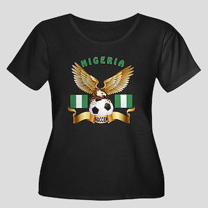 Nigeria Football Design Women's Plus Size Scoop Ne
