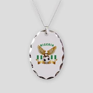 Nigeria Football Design Necklace Oval Charm