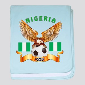 Nigeria Football Design baby blanket