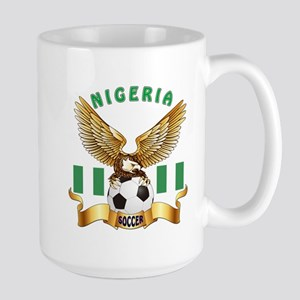 Nigeria Football Design Large Mug