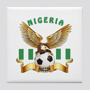 Nigeria Football Design Tile Coaster