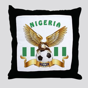 Nigeria Football Design Throw Pillow
