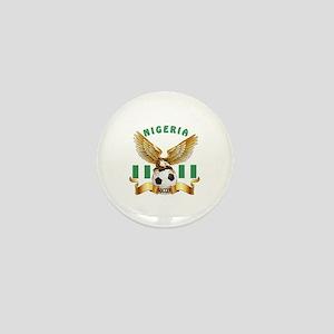 Nigeria Football Design Mini Button