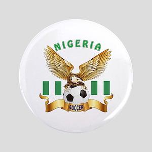 "Nigeria Football Design 3.5"" Button"