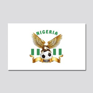 Nigeria Football Design Car Magnet 20 x 12