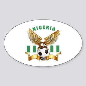 Nigeria Football Design Sticker (Oval)
