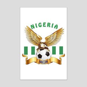 Nigeria Football Design Mini Poster Print