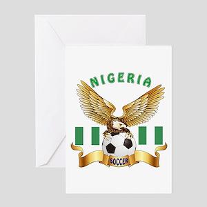 Nigeria Football Design Greeting Card