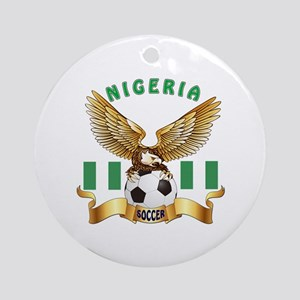 Nigeria Football Design Ornament (Round)