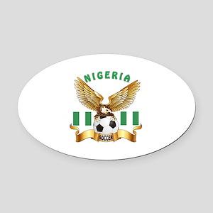 Nigeria Football Design Oval Car Magnet