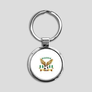 Nigeria Football Design Round Keychain