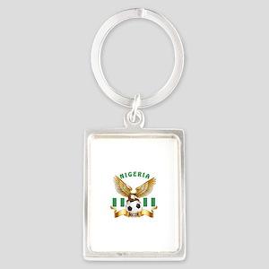 Nigeria Football Design Portrait Keychain